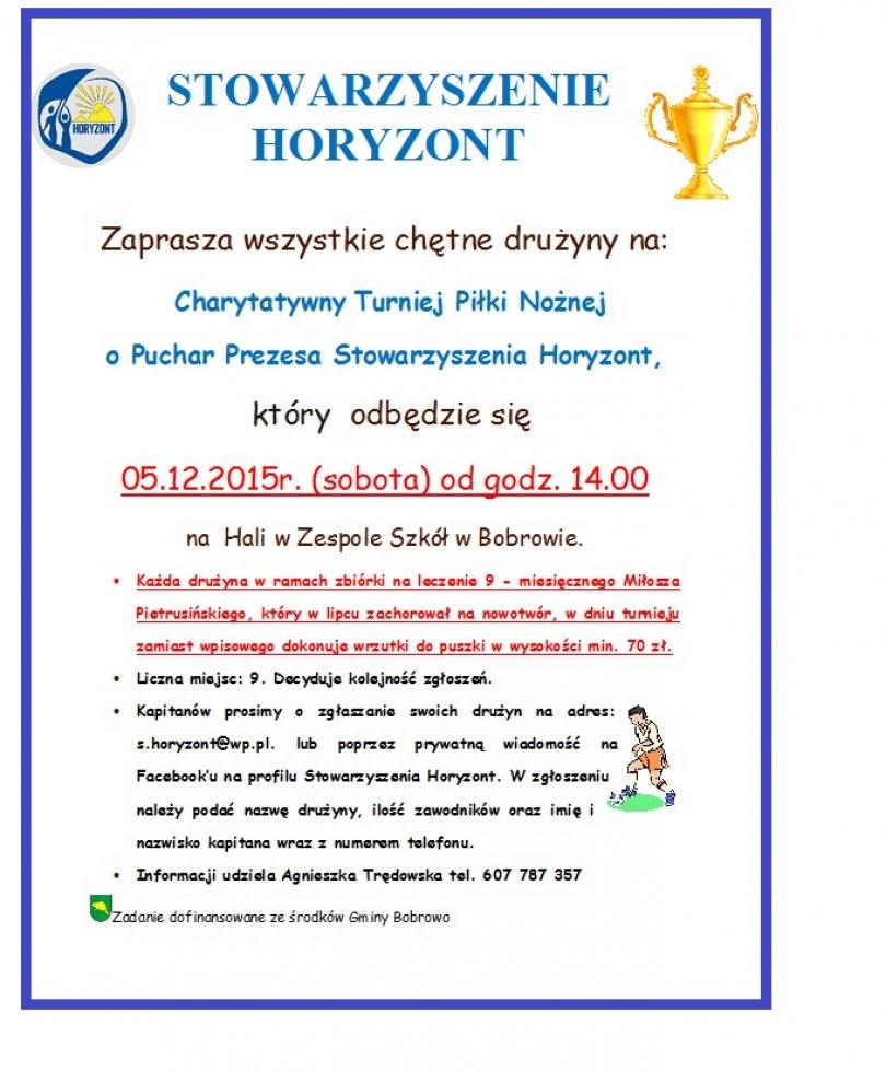 Charytatywny Turniej Piłki Nożnej o Puchar Prezesa Stowarzyszenia Horyzont