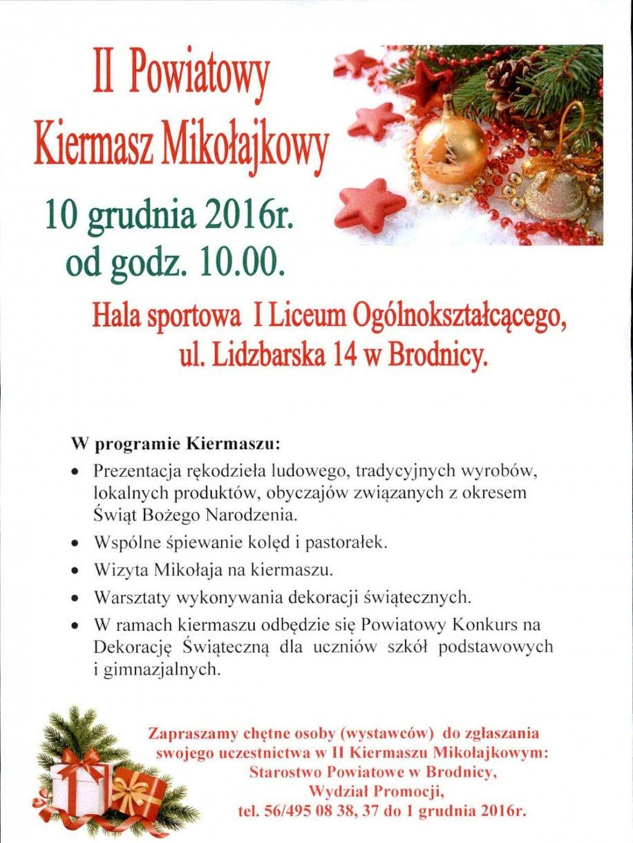 II Powiatowy Kiermasz Mikołajkowy