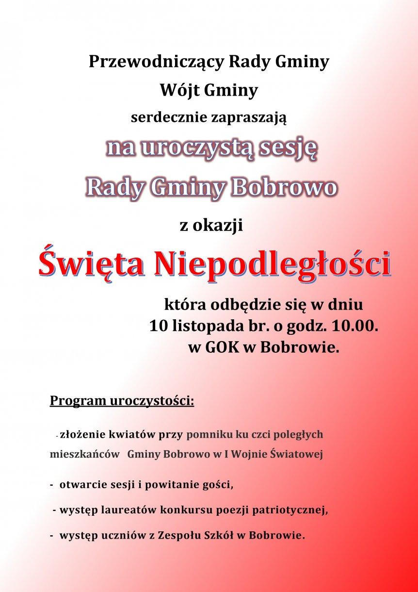 Uroczysta Sesja Rady Gminy Bobrowo
