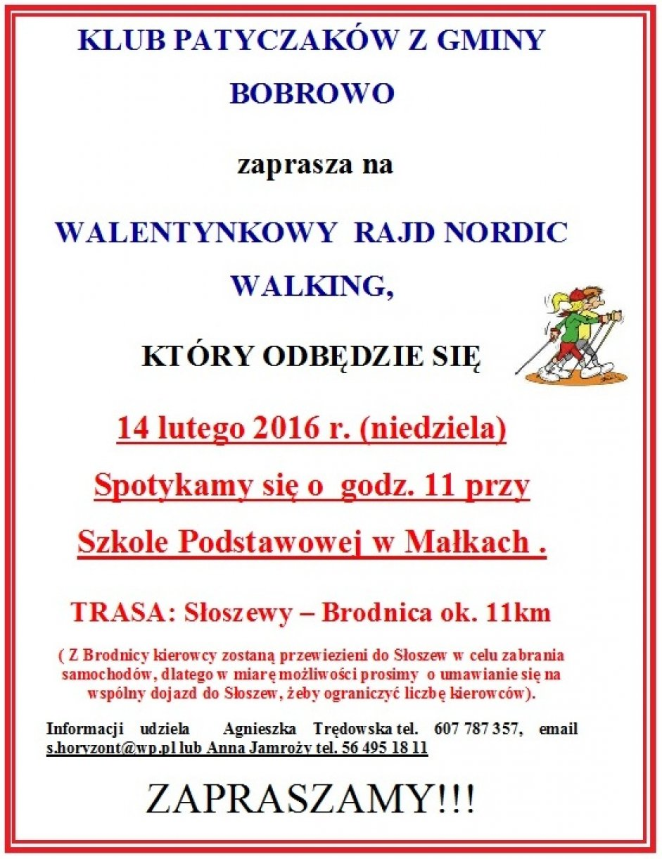 Walentynkowy Rajd Nordic Walking
