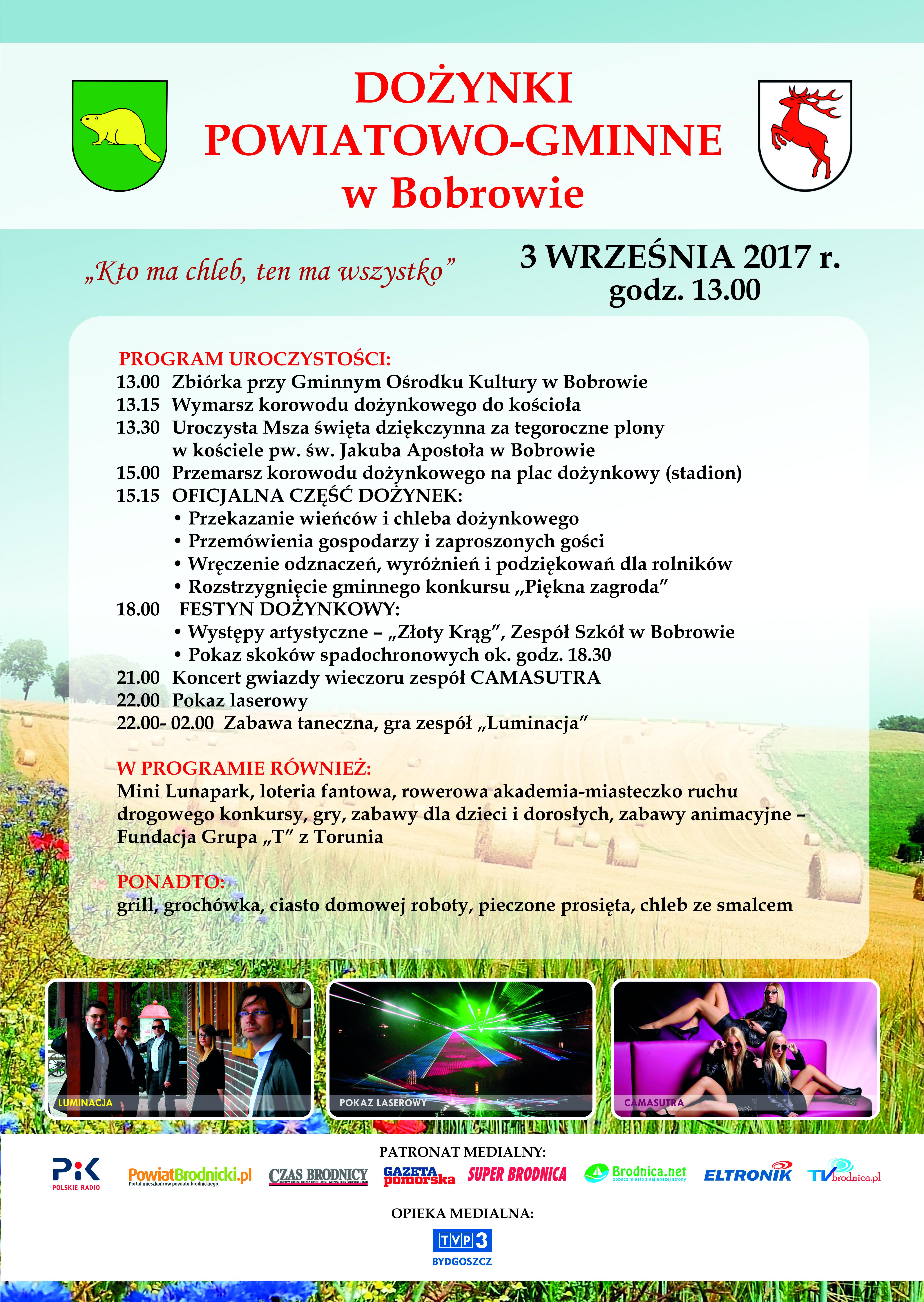Dożynki Powiatowo-Gminne w Bobrowie